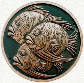 Fish sculptured wall plaque