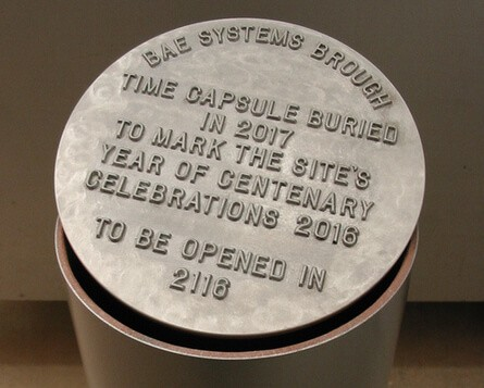 BAE Systems composite time capsule