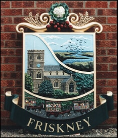 Friskney cast in aluminium with decorative colours