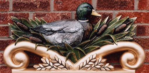 Sibsey village duck finished in decorative colours