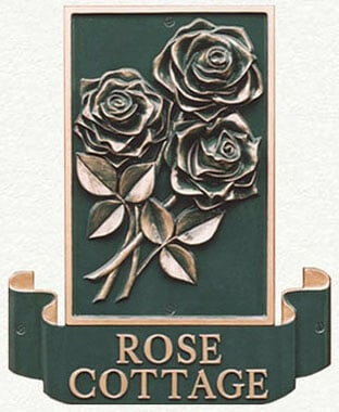 Four seasons rose house sign