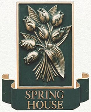 Tulip four seasons house sign