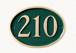 Cast metal number signs