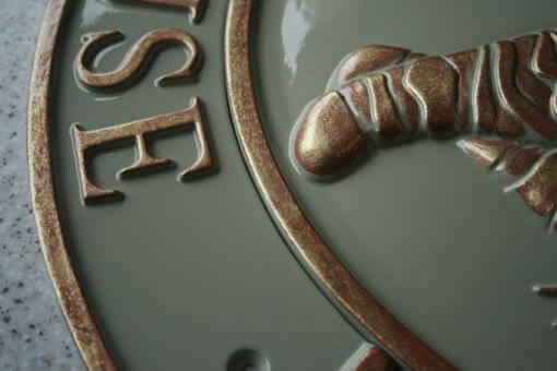 Cast metal decorative house plaques