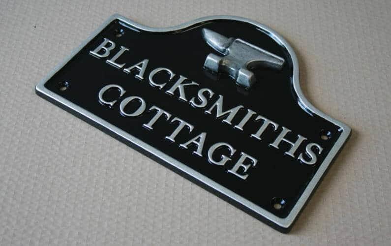 Blacksmiths House Sign